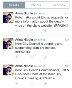 Tweets from Kent City Council meeting on Oct. 15