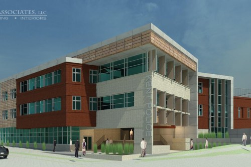 Rendering of what the new Kent police station will look like fro DS Architecture, a Kent-based architecture firm.