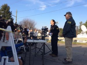 Vice Chairman of NTSB Bella Dinh-Zarr speaks at a press conference near the crash site on Nov. 11, 2015.
