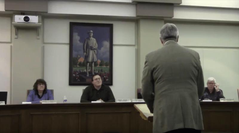 Stow City Council hears from Craig Schubert.