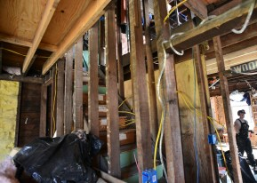Locals are helping LaPonte learn to do the wiring her home needs.