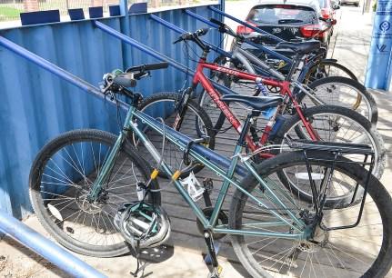Bikes in a Blue Box