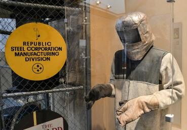 Early heat gear for a steel worker at the museum. John Rennison, Hamilton Spectator