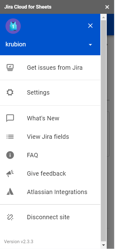 Jira Cloud for Google Sheets