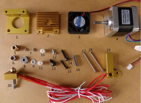 reprap wiring diagram for subs extruder assembly -