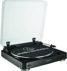 Audio Technica AT-LP60BK Fully Automatic Belt-Drive Stereo Turntable, Black