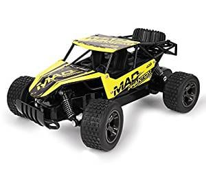 RC Cars, All Terrain Remote Control High-Speed Car Offroad 2.4Ghz 2WD Remote Control Monster Truck, Best Christmas Gift for Kids and Adults (Yellow)