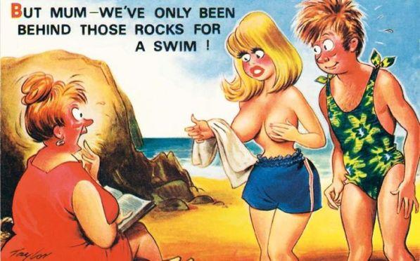 4c66eead4fe9de28785af2e7deda94f5--beach-cafe-funny-postcards