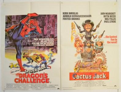 spider man dragons challenge cactus jack - cinema quad movie pos