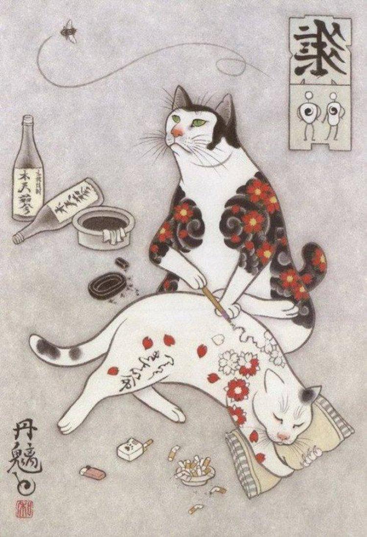 kazuaki-horitomo-tattoo-cats