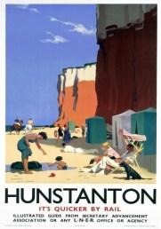Hunstanton, Queen of the Norfolk Coast', British Railways Travel poster Print