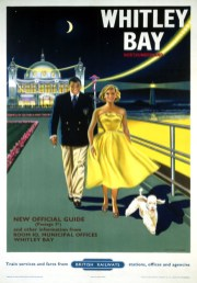 Whitley Bay, Spanish City, Northumberland. BR Vintage Travel pos