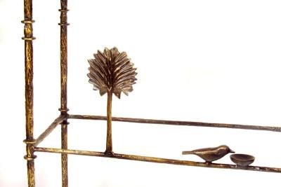 Giacometti Detail Trees With Birds Console
