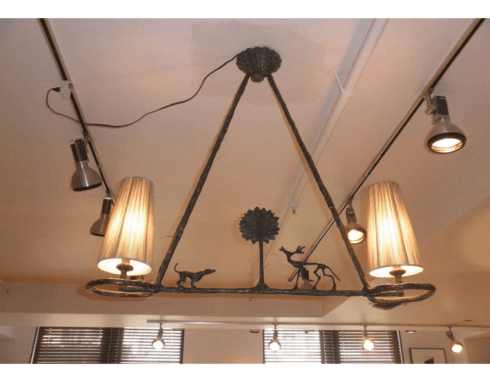 Giacometti Chandelier with Tree