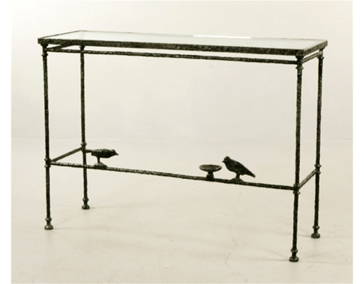 Giacometti Console with Birds