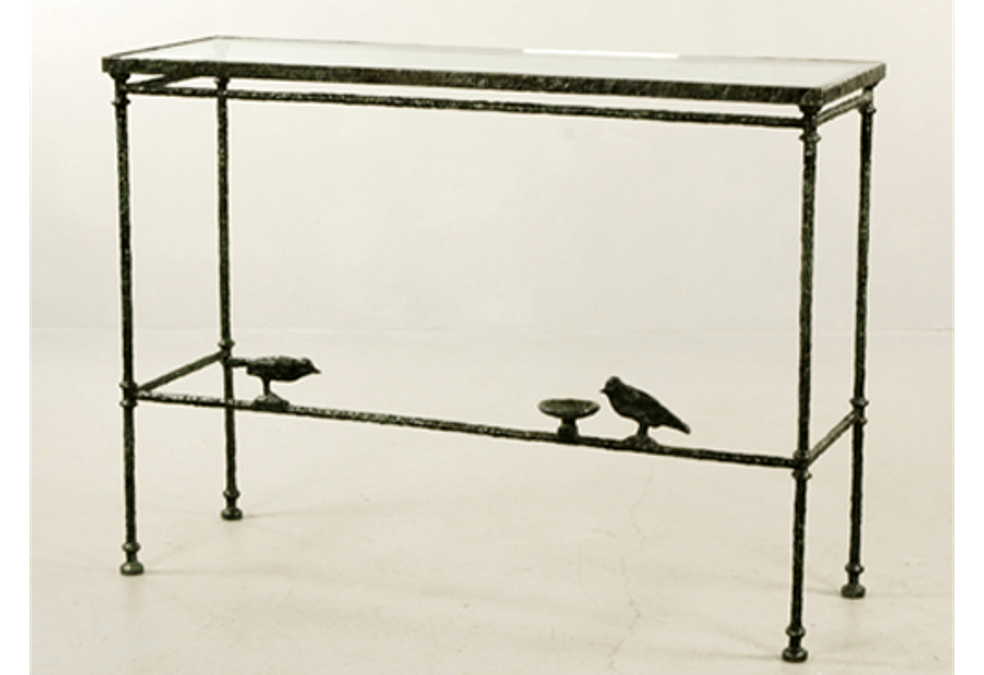 Console With Birds