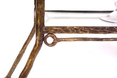 Diego Giacometti detail Stretcher Bookcase-Etagere