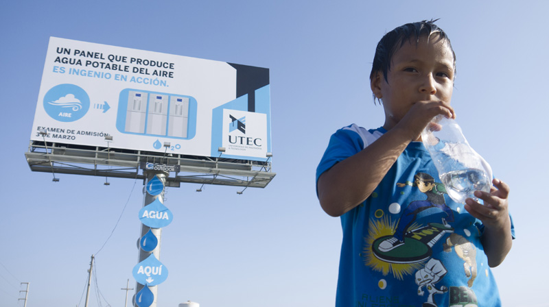 Lima Billboard + Fresh Drinking Water = UTEC Water Billboard