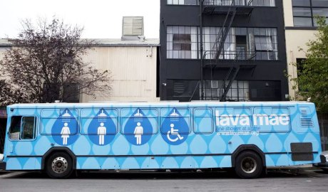 Lava Mae has converted city buses into mobile shower and sanitation units for the homeless.