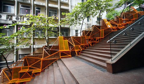 Creating a Micro Park on a Hong Kong Stairway