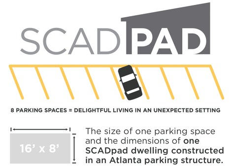 Parking garage spaces become micro housing units