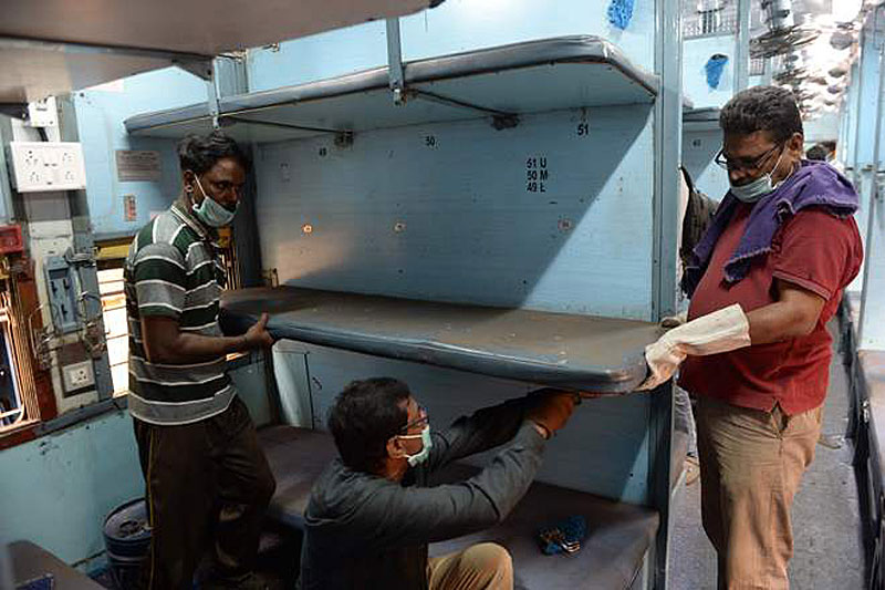Covid Resourcefulness: Converting Indian Train into Quarantine coaches