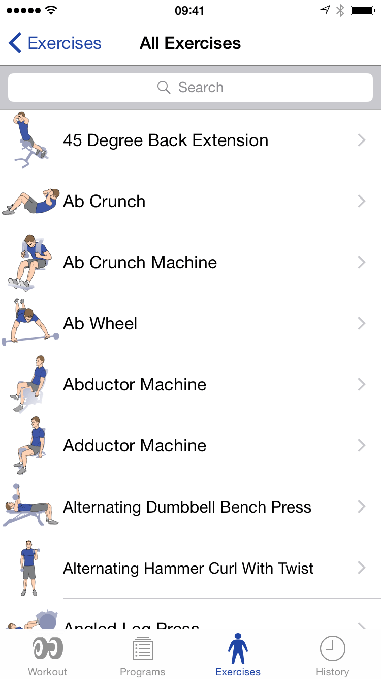 Exercise Search
