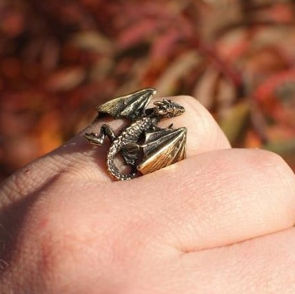 dragon ring - gifts for reptile lovers 2019