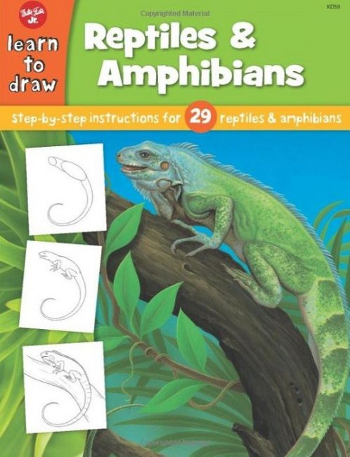 gifts for reptile lovers - how to draw book