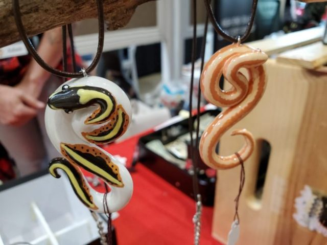 snake necklaces at the Fall 2019 Wasatch Reptile Expo