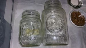 Varying size jars can be used