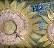 Sunflower tile panel detail