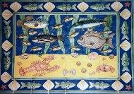 Waitrose fish tile panel 3