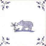 Delft Animal tile 1