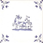 Delft Animal tile 3