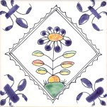 Delft flower tile 4