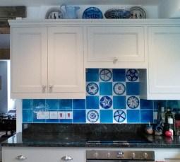 Urchin tiles in situ
