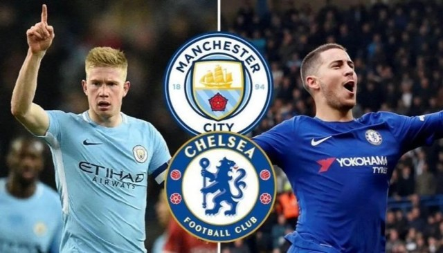 Image result for Man City and Chelsea lock horns in Community Shield