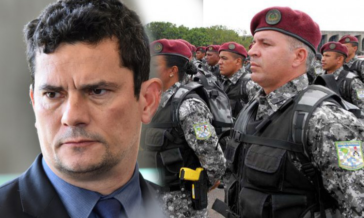 Sergio Moro e Policiais