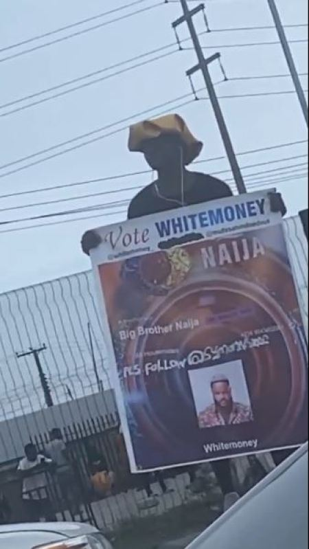 Man campaigning for Whitemoney