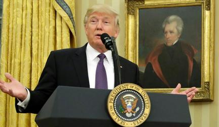 Trump and Andrew Jackson