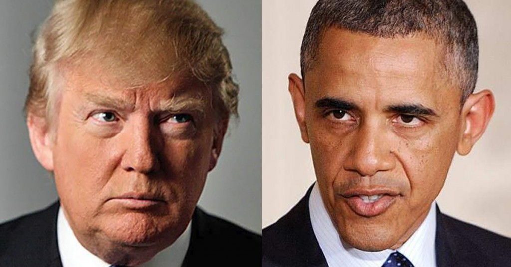 Image result for clinton & obama vs trump