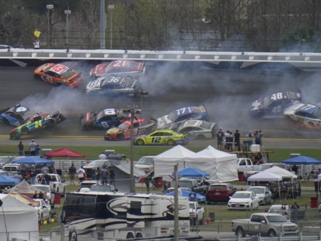 Daytona 500 Delayed by Massive 16-Car Crash, Lightning