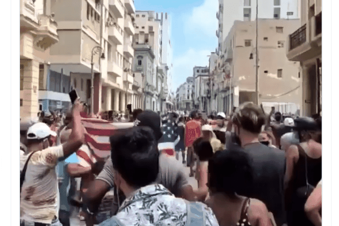 Massive Demonstrations in Cuba Demanding Freedom, Waving American Flag, Taking on Police – RedState