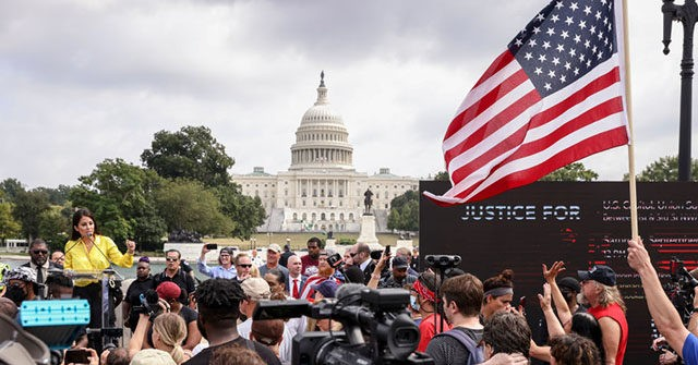 Protesters Call for Due Process for Capitol Attack Detainees