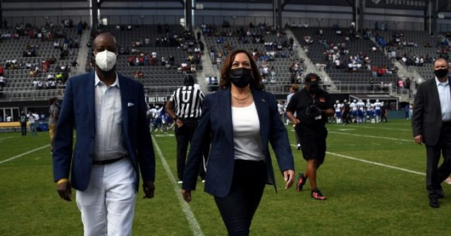 Mysteriously Loud Cheer Erupts from Tiny Crowd After Kamala Harris Coin Toss