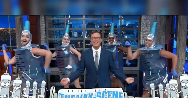 Watch Stephen Colbert Convince the Unvaccinated to Remain Unvaccinated