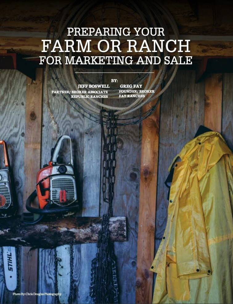 Preparing Your Farm or Ranch for Marketing and Sale