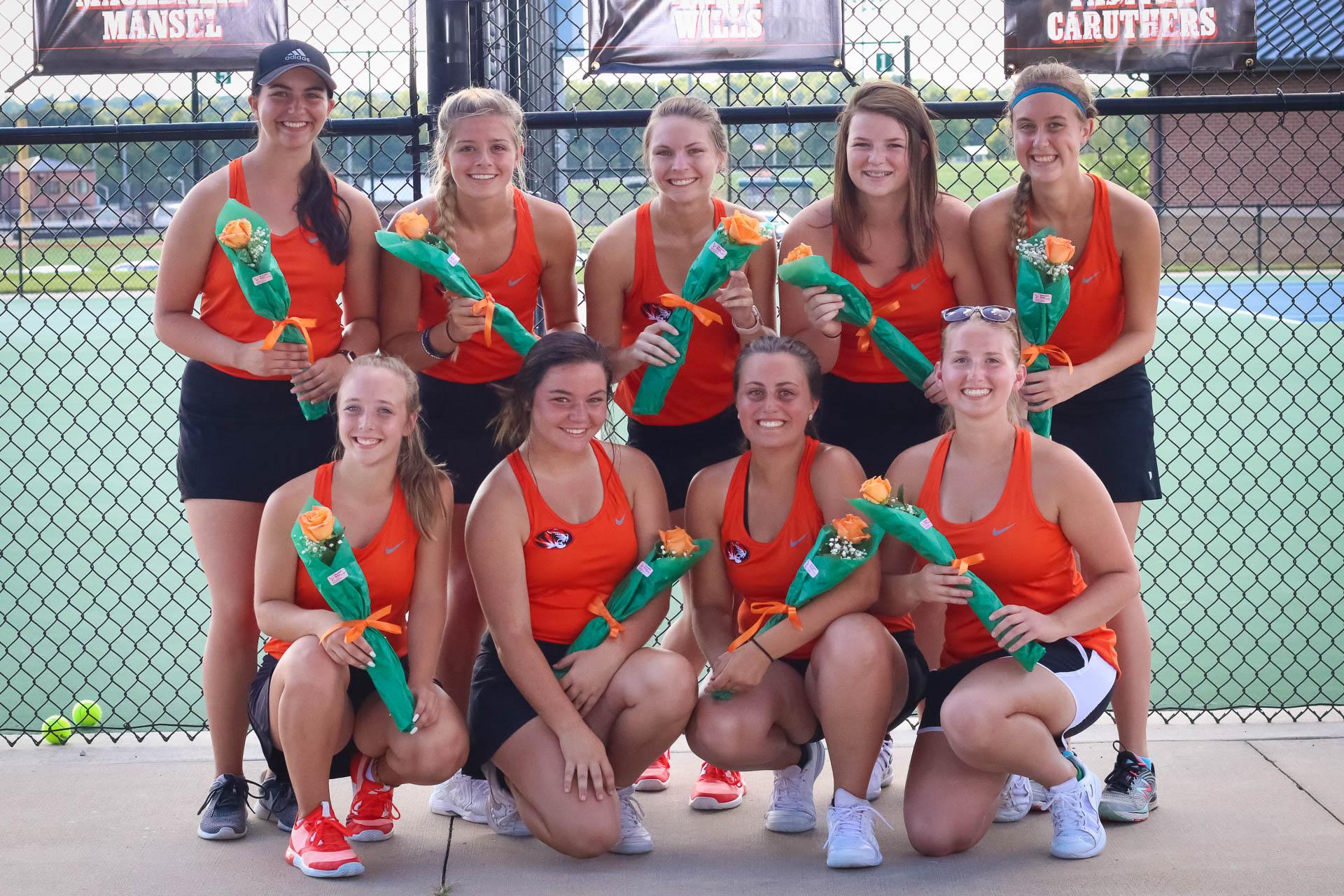 Comebacks Highlight Senior Night Tennis Win