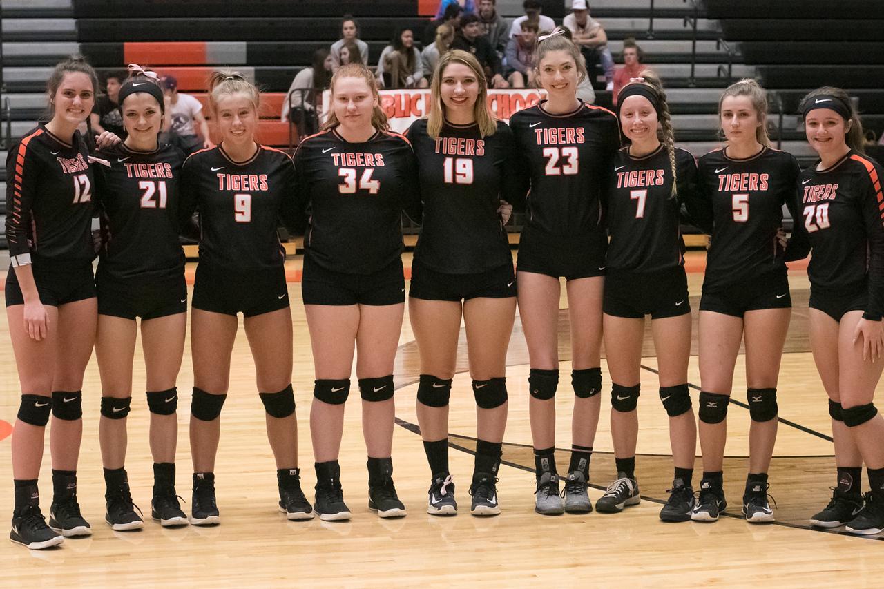 Photos:  Volleyball Senior Night